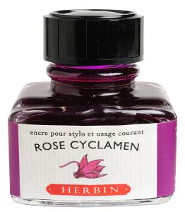 "Encre Herbin en flacon ""D"" - 30 ml - rose cyclamen"