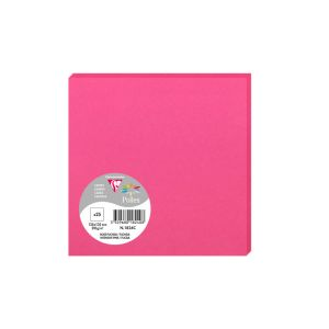 25 Cartes Pollen Clairefontaine - 135x135 mm - rose fuchsia