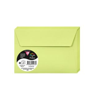 20 Enveloppes Pollen Clairefontaine - 114x162 mm - vert bourgeon