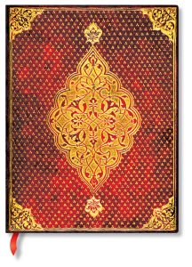 Carnet Paperblanks Golden Trefoil -18x23 cm - 144 p - Pages blanches