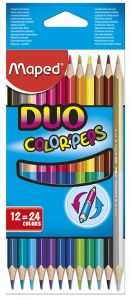 Étui de 12 Crayons de Couleur Maped duo color pep's