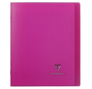 Cahier Clairefontaine Koverbook - 17x22 cm - 96 pages - Séyès - rose
