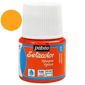 Peinture Pébéo Setacolor Opaque Mat - 45 ml - orange