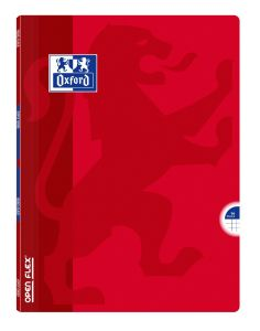 Cahier Oxford open flex - 24x32 cm - 96 pages - petits carreaux - rouge
