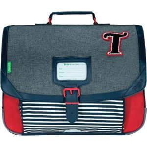 Cartable Tann's 38 cm Teddy - gris chiné