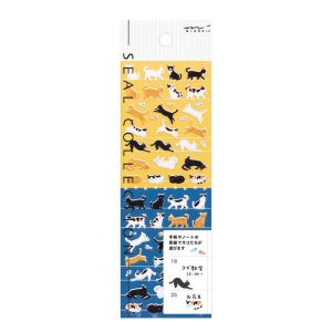 Mini Stickers Midori Seal Collection - chats