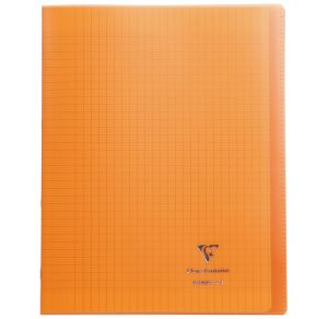 Cahier Clairefontaine Koverbook - 24x32 cm - 96 pages - Séyès - orange