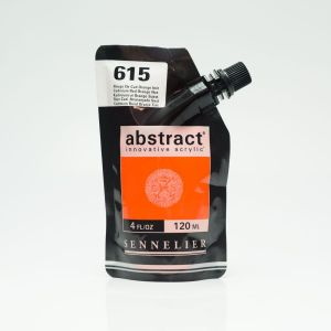 Peinture Acrylique Abstract Sennelier - 120ml - rouge de cadmiun orange
