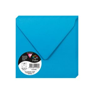 20 Enveloppes Pollen Clairefontaine - 140x140 mm - bleu turquoise