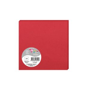 25 Cartes Pollen Clairefontaine - 135x135 mm - rouge groseille