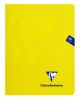Cahier Clairefontaine Mimesys - 17x22 cm - 96 pages - petits carreaux - jaune