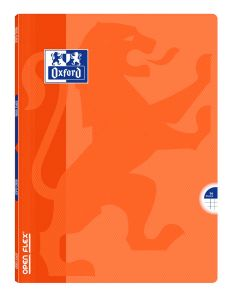 Cahier Oxford open flex - 24x32 cm - 96 pages - petits carreaux - orange