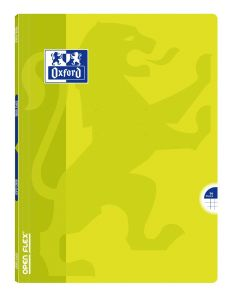 Cahier Oxford open flex - 24x32 cm - 96 pages - petits carreaux - vert lime