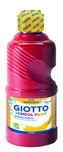 Flacon de Gouache Lavable Giotto - 250ml - rouge écarlate