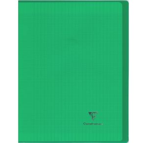 Cahier Clairefontaine Koverbook - 24x32 cm - 96 pages - Séyès - vert