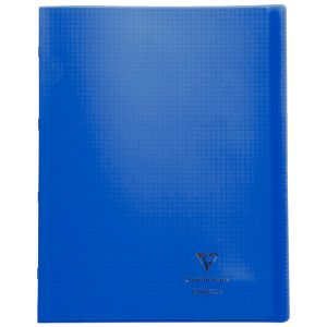 Cahier Clairefontaine Koverbook - 24x32 cm - 96 pages - petits carreaux – bleu navy