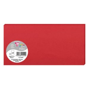 25 Cartes Pollen Clairefontaine - 106x213 mm - rouge groseille