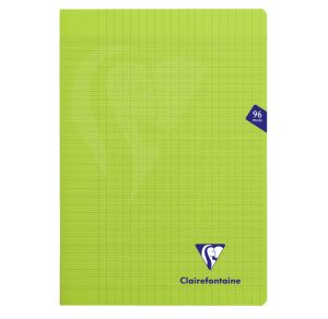 Cahier Clairefontaine Mimesys - A4 - 96 pages - Séyès - vert