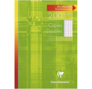 Copies Doubles Clairefontaine - A4 - 200 pages - Séyès - blanc