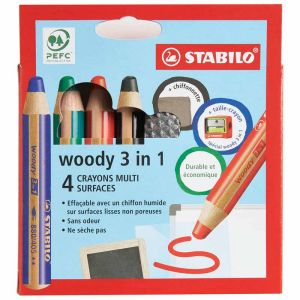 4 Crayons Stabilo Woody