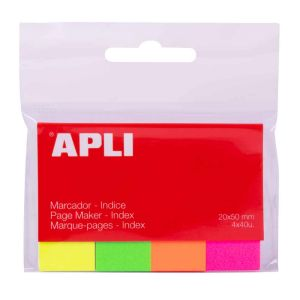 Index Repositionnables Apli - 4 couleurs fluo