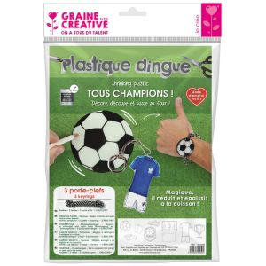 Kit Plastique Dingue Graine Créative - football