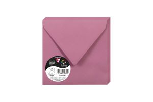 20 Enveloppes Pollen Clairefontaine - 140x140 mm - rose hortensia