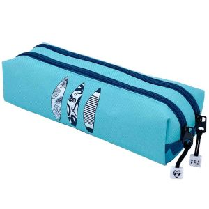 Trousse Scolaire Pol Fox Surf Spirit - 2 compartiments