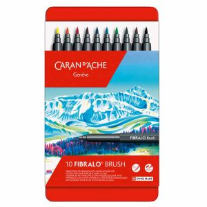 10 Feutres Aquarellables Fibralo Brush Caran D'Ache