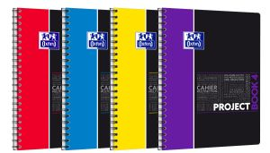Cahier Oxford Project Book - A4+ - 200 pages - petits carreaux
