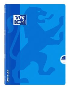Cahier Oxford open flex - 24x32 cm  - 96 pages - Séyès – bleu clair