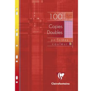 Copies Doubles Clairefontaine - A4 - 100 pages - Séyès - rose