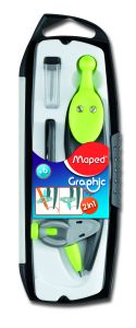 Compas Maped graphic 360° coffret 3 pieces interchangeable