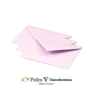 20 Enveloppes Pollen Clairefontaine - 75x100 mm - lilas