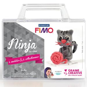 Kit Pâte Fimo - Ninja le chat
