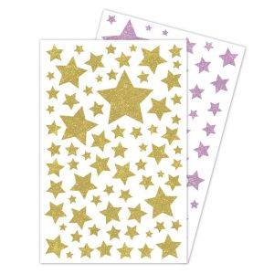 Stickers Glitty Maildor - paillettes étoiles or