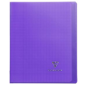 Cahier Clairefontaine Koverbook - 17x22 cm - 96 pages - Séyès - violet