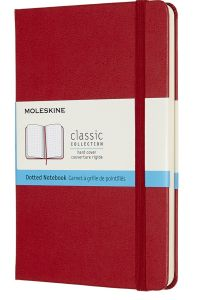 Carnet Moleskine Rigide - 11,5x18 cm - Pages pointillées - rouge