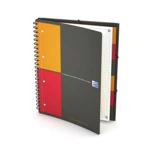 Cahier Oxford Organiserbook - A4 - 160 pages - petits carreaux