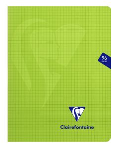 Cahier Clairefontaine Mimesys - 17x22 cm - 96 pages - petits carreaux - vert
