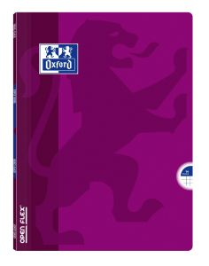 Cahier Oxford open flex - 24x32 cm - 96 pages - petits carreaux - fuchsia