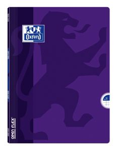 Cahier Oxford open flex - 24x32 cm - 96 pages - petits carreaux - violet