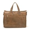 Sac porte-documents Arthur & Aston - cuir vachette destroy - marron