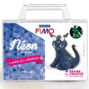 Kit Pâte Fimo - Néon le dragon