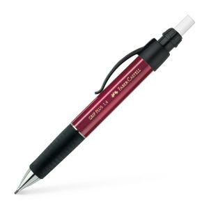 Porte-mine Faber-Castell grip plus - 1,4 mm - B - rouge