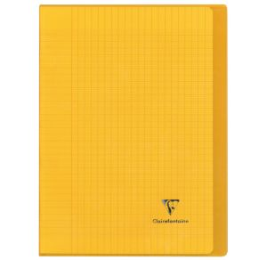 Cahier Clairefontaine Koverbook - 17x22 cm - 96 pages - Séyès - jaune