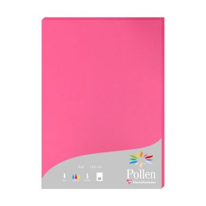 Papier Pollen Clairefontaine - 50 feuilles A4 - 160 g - rose fuchsia