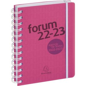 Agenda Scolaire Exacompta forum linicolor - rose