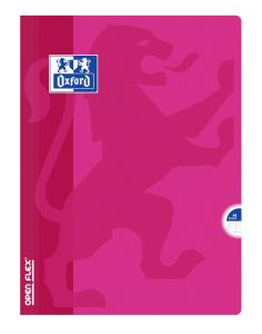 Cahier Oxford open flex - 24x32 cm  - 48 pages - Séyès – fuschia