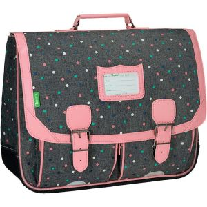 Cartable Tann's 41 cm Lou - gris chiné